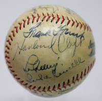 1937 AL All-Star Team-Signed OAL Baseaball with (19) Signatures Including Lou Gehrig, Joe DiMaggio, Lefty Gomez, Hank Greenberg, Joe McCarthy (JSA LOA) at PristineAuction.com