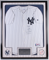 Yankees Team Captains 34x42 Custom Framed Jersey Display Signed by (5) with Greg Nettles, Don Mattingly, Derek Jetter, Ron Guidry, & Willie Randolph (Steiner COA)