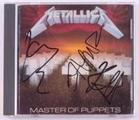 "James Hetfield, Lars Ulrich & Kirk Hammett Signed Metallica ""Master of Puppets"" CD Album (REAL LOA)"
