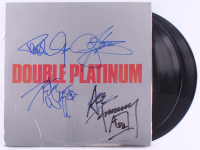 """KISS """"Double Platinum"""" Vinyl Record LP Album Cover Band-Signed by (4) with Paul Stanley, Gene Simmons, Peter Criss & Ace Frehley (REAL LOA)"""
