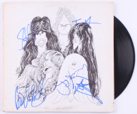 "Aerosmith ""Draw The Line"" Vinyl Record LP Album Cover Band-Signed by (5) with Steven Tyler, Joe Perry, Tom Hamilton, Joey Kramer & Brad Whitford (REAL LOA & JSA LOA)"