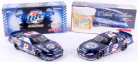 Lot of (2) Rusty Wallace LE 1:24 Scale Die Cast Cars with (1) #2 Miller Lite 2004 Intrepid & (1) #2 Miller Lite / Commemorative Can Series 2004 Intrepid