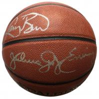 "Julius ""Dr J"" Erving & Larry Bird Signed Full-Size Spalding NBA Basketball (JSA COA)"