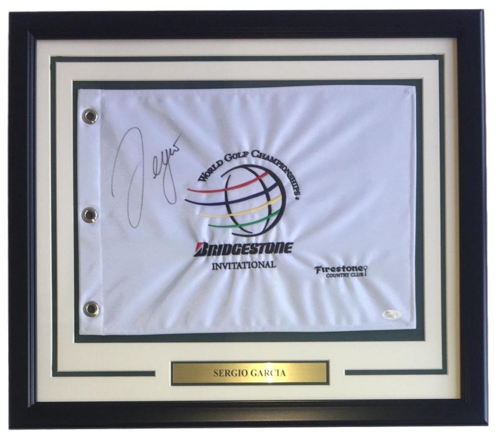 Sergio Garcia Signed World Golf Championships 22x27 Custom