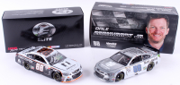 Lot of (2) Dale Earnhardt Jr. LE 1:24 Die-Cast Cars with (1) Signed #88 Nationwide Grey Ghost Autographed 2017 SS Elite & (1) #88 Nationwide Insurance 2016 SS Raw (Earnhart Jr. Hologram)