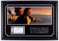 """Leonardo DiCaprio Signed """"Titanic"""" 20.75.5x29.5 Custom Framed Index Card Display (PSA Encapsulated)"""