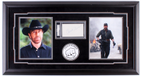 Chuck Noris Signed 17.5.5x32.75 Custom Framed Index Card Display (PSA Encapsulated)