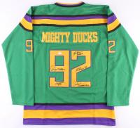 """""""The Mighty Ducks"""" Jersey Signed by (5) With Elden Henson, Matt Doherty, Brandon Adams, Garette Ratliff Henson, Aaron Schwartz (JSA COA)"""