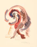 "Salvador Dali Signed ""The Slothful"" 10x13 Wood Cut Print (JSA LOA)"