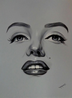 "Hector Monroy Signed ""Marilyn Monroe"" 26x33 Original Oil Painting on Canvas (PA LOA)"