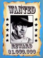 "Hector Monroy Signed ""John Wayne"" 25.5x33 Original Oil Painting on Canvas (PA LOA)"