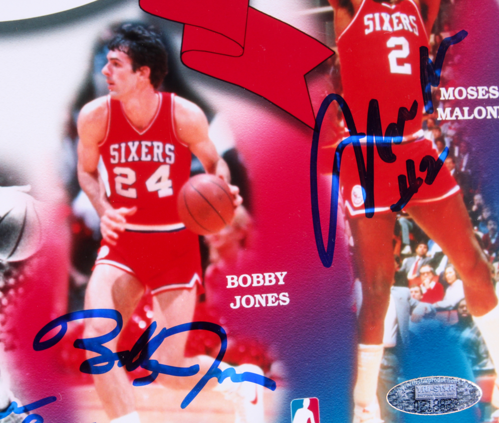 3fdc8144282e 76ers 1983 NBA World Champions LE 17x21.5 Custom Framed Photo Display  Team-Signed