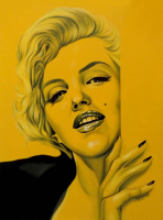 "Hector Monroy Signed ""Marilyn Monroe"" 26x35.5 Original Oil Painting on Canvas (PA LOA)"
