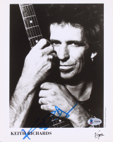 Keith Richards Signed 8x10 Photo  (Beckett LOA)
