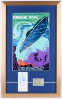 "Disneyland's Tomorrowland ""Submarine Voyage"" 17.5x25 Custom Framed Poster Print Display with Vintage Ticket"