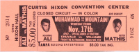 Unused 1971 Muhammad Ali & Buster Mathis Fight Ticket