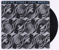 "The Rolling Stones ""Steel Wheels"" Vinyl Record Album Band-Signed by (4) with Mick Jagger, Ronnie Wood, Keith Richards, & Charlie Watts (Real LOA)"