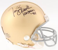 "Tim Brown Signed Notre Dame Fighting Irish Mini Helmet Inscribed ""Heisman '87"" (Denver Autographs COA & Brown Hologram)"