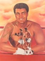"Muhammad Ali Signed 18x24 Lithograph Inscribed ""6-20-91"" (JSA ALOA)"
