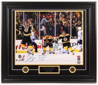 "Patrice Bergeron Signed Bruins LE 23.5x27.5 Custom Framed Photo Display Inscribed ""The Comeback"", ""GT + OTGWG"", & ""5-13-13"" (Bergeron Hologram)"