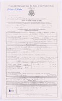 "William Higbee Signed ""Honorable Discharge"" 8x14 Document Copy (Beckett COA)"