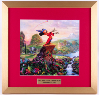 "Thomas Kinkade Walt Disney's ""Mickey Mouse: The Sorcerer's Apprentice"" 17.5x18 Custom Framed Print"
