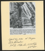 "Bill Robertson Signed 5.5x6.5 Photo Cut Inscribed ""April 26, 1945 at Torgau"" & ""2nd Lt., 1st Bn HQ, 273rd Reg. 69th Div"" (Beckett COA)"