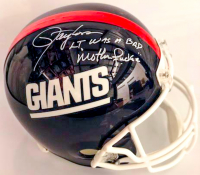 "Lawrence Taylor Signed Giants Full-Size Throwback Helmet Inscribed ""LT Was a Bad Motherf*****"" (Beckett COA)"