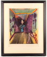 "Salvador Dali Signed LE ""Cecile Receives Germeuil's Letter"" 27x32 Custom Framed Print Display (PA LOA)"