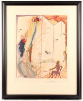 "Salvador Dali Signed LE ""The Twins Outwit Damis"" 27x32 Custom Framed Print Display (PA LOA)"