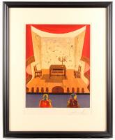 "Salvador Dali Signed LE ""A Miserable Flat"" 27x32 Custom Framed Print Display (PA LOA)"