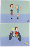 Lot of (2) Beavis & Butthead LE 11x14 Animation Serigraph Cels