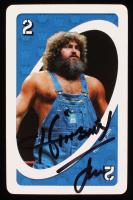 Hillbilly Jim Signed 2.25x3.5 UNO Card (JSA COA)