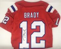 Tom Brady Signed LE Patriots Nike Vapor Elite Red Jersey (Steiner COA & TriStar Hologram)