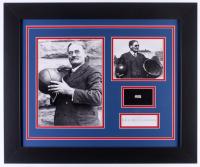 Dr. James Naismith 19.5x23.5 Custom Framed Display with (1) Hand-Written Word (PSA LOA Copy)