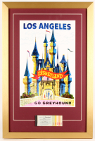 Disneyland's 17.5x26 Custom Framed Poster Print Display with Vintage Ticket