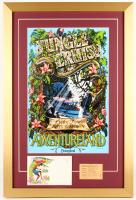 "Disneyland Adventureland ""Jungle Cruise"" 17.5x26 Custom Framed Poster Print Display with Vintage Child Ticket & Envelope"