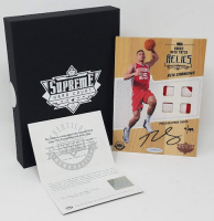 Ben Simmons Signed LE 2016-17 Upper Deck Supreme Hardcourt NBA Relics Floor With (4) Jersey Swatches (UDA COA)