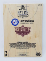 Ben Simmons Signed LE 2016-17 Upper Deck Supreme Hardcourt NBA Relics Floor With (4) Jersey Swatches (UDA COA) at PristineAuction.com