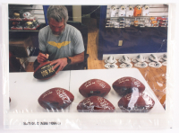 "Brett Favre & Peyton Manning Dual-Signed LE ""70K Passing Yards & 500 Passing Touchdowns Club"" Game Ball With Inscription (Favre COA & Fanatics Hologram) at PristineAuction.com"