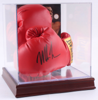 Mike Tyson Signed Everlast Gold Boxing Gloves With Display Case (PSA COA)