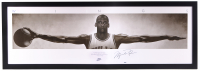 "Michael Jordan Signed ""Wings"" 26.25x76.25 Custom Framed Poster Display (JSA LOA & UDA LOA)"