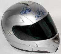 Jimmie Johnson, Richard Petty, Martin Truex Jr., and Dale Earnhardt Jr. Signed Racing Helmet (JSA COA)