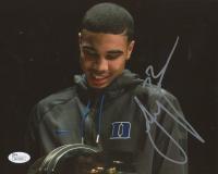 Jayson Tatum Signed Duke Blue Devils 8x10 Photo (JSA COA)
