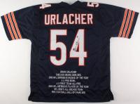 Brian Urlacher Signed Bears Career Highlight Stats Jersey (JSA COA)
