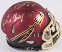 Jameis Winston & Deondre Francois Signed Florida State Seminoles Custom Matte Maroon Mini Speed Helmet (JSA COA)