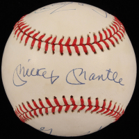 50 Home Run Club ONL Baseball Signed by (6) with Mickey Mantle, Willie Mays, George Foster, Cecil Fielder, Ralph Kiner & Johnny Mize (JSA LOA)
