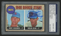 "Nolan Ryan Signed 1968 Topps #177 Rookie Stars Inscribed ""'69 World Champs"" (PSA Encapsulated)"