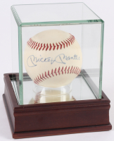 Mickey Mantle Signed Baseball with High Quality Display Case (SIG LOA)