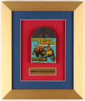 Vintage 1950's Abbott and Costello 10x12 Custom Framed 8mm Film Reel Display